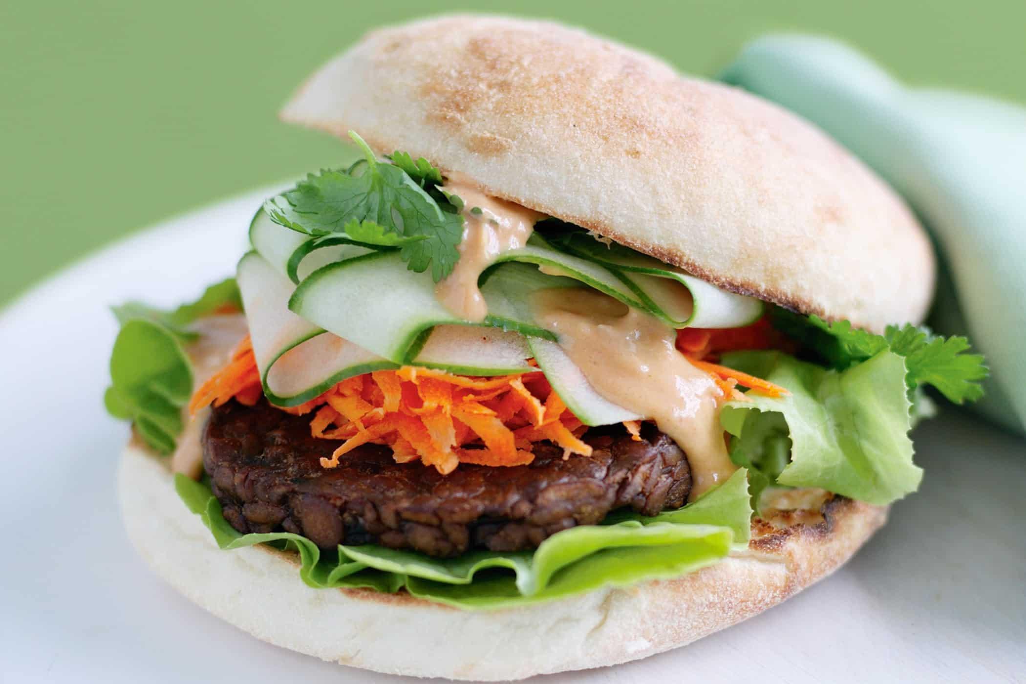 hamburger di tempeh